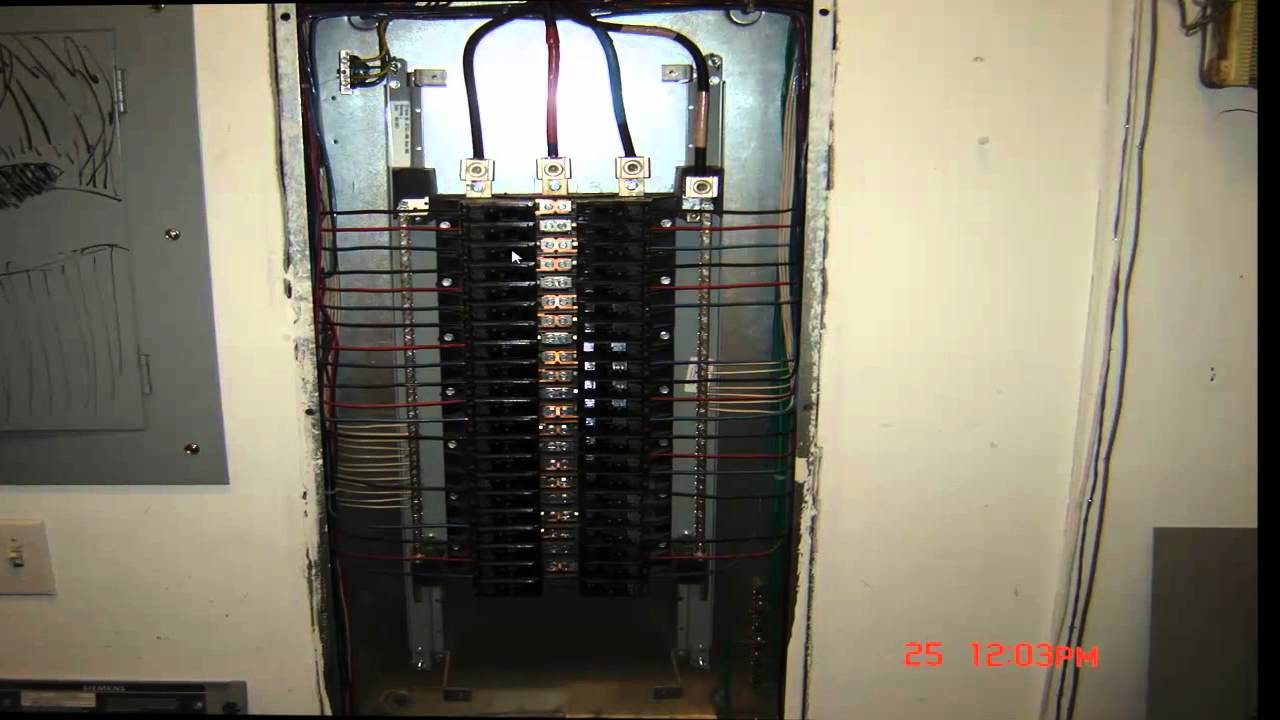 200 Amp Breaker Box Diagram Lutron 4 Way Wiring Electrical Wiring- 3 Phase Panel Detail - Youtube