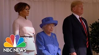 President Donald Trump And First Lady Take Tea With The Queen | NBC News