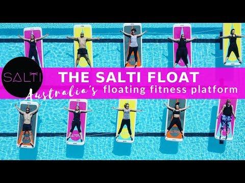 Salti   Australia's Floating Fitness mat   transforming aquatic fitness classes - with captions