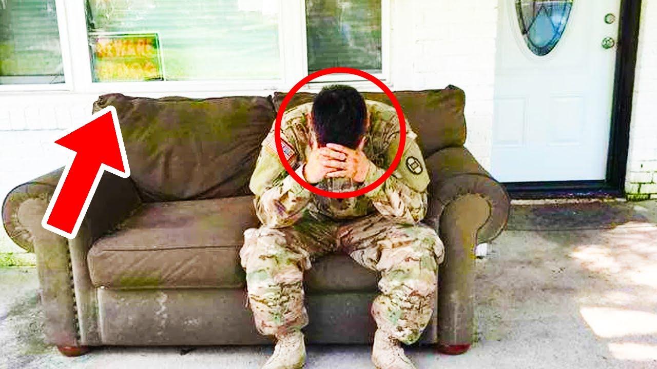 Voják se vrátil ze služby domů dříve a naskytl se mu šokující pohled... (Hnusné)