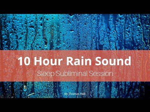 No More Teeth Grinding - (10 Hour) Rain Sound - Sleep Subliminal - By Thomas Hall