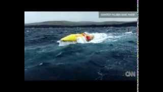 Pelamis wave energy machine to extract energy from ocean waves