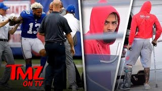 Odell Beckham Jr. Is Sad And On Crutches | TMZ TV