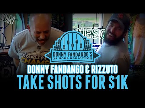 Donny and Rizz take Moon's punishment shots during the Radiothon [Rizzuto Show]