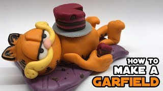How to make a GARFIELD from fondant