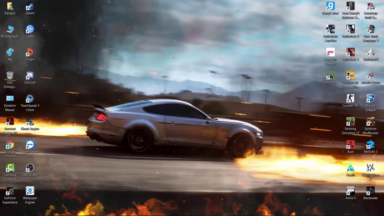 Wallpaper Engine | Ford Mustang GT HD Live Wallpaper | NFS PAYBACK - YouTube