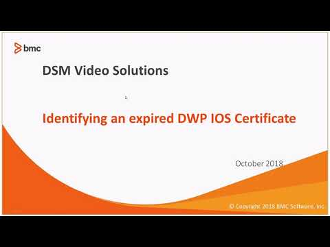 Identifying an Expired DWP IOS Certificates - YouTube
