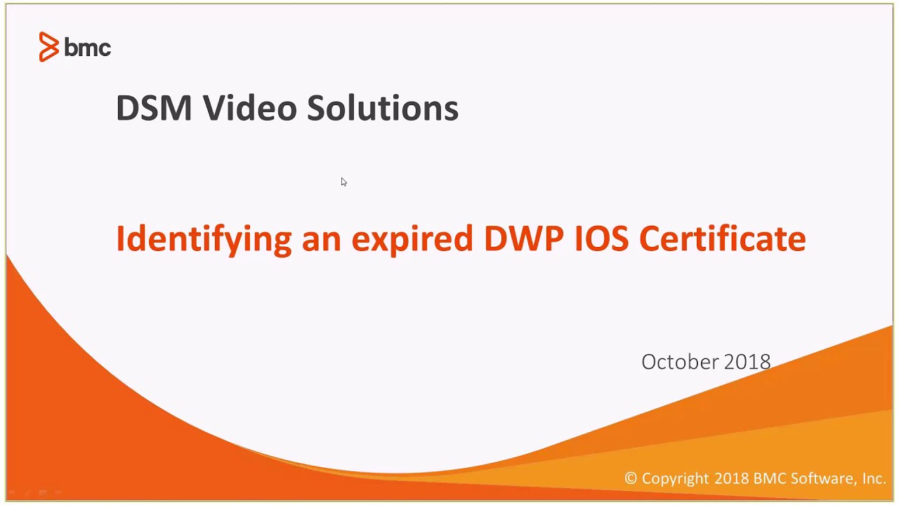 Identifying an Expired DWP IOS Certificates