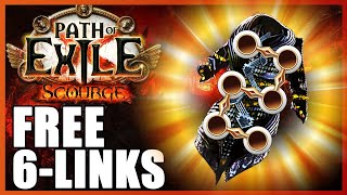 Free 6 Links?! Eąsy Way to Get 6 links in Path of Exile Scourge [PoE 3.16]