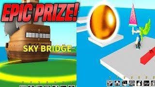 Video EPIC SKY BRIDGE OBBY IN EGG FARM SIMULATOR! *HARD* (Roblox) download MP3, 3GP, MP4, WEBM, AVI, FLV Oktober 2018