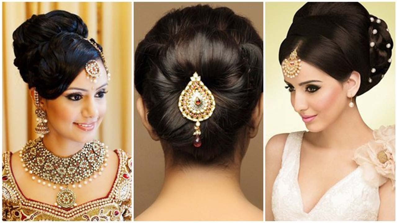 Indian bun hairstyles for medium hair | Traditional ...