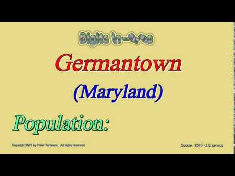 Germantown Maryland Population in 2010 - Digits in Three