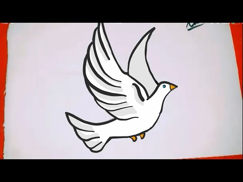 How To Drawa Bird Cok Kolay Kus Cizimi Kolay Resimler Youtube