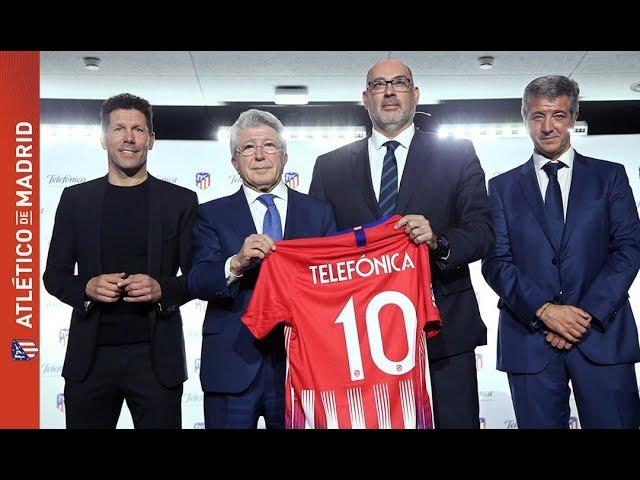 El Atlético de Madrid y Telefónica firman un acuerdo estratégico para las próximas cuatro temporadas