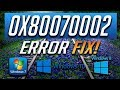 Fix Windows Update Error 0x80070002 in Windows 10/8/7 [2020 Tutorial]