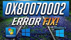 Fix Windows Update Error 0x80070002 in Windows 10/8/7 [2018 Tutorial]