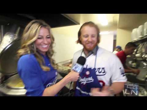 Los Angeles Dodgers Justin Turner speaks with LBLN's Melissa McGinnis