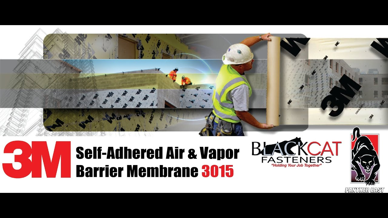 Air Barrier Membrane : M self adhered air and vapor barrier wall