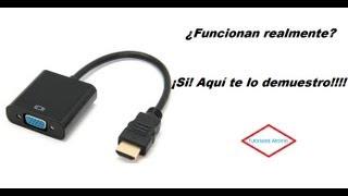 Demostración de funcionamiento. Adaptador HDMI a VGA.(, 2013-07-11T11:59:04.000Z)