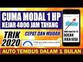 - TERBARU ! Cuma Pakai HP Kejar 4000 Jam Tayang dengan Cepat | 100% Work - Part 3