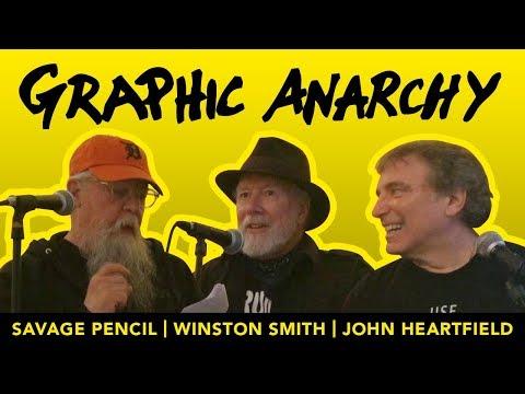 Winston Smith, John Heartfield and Savage Pencil discuss their artwork