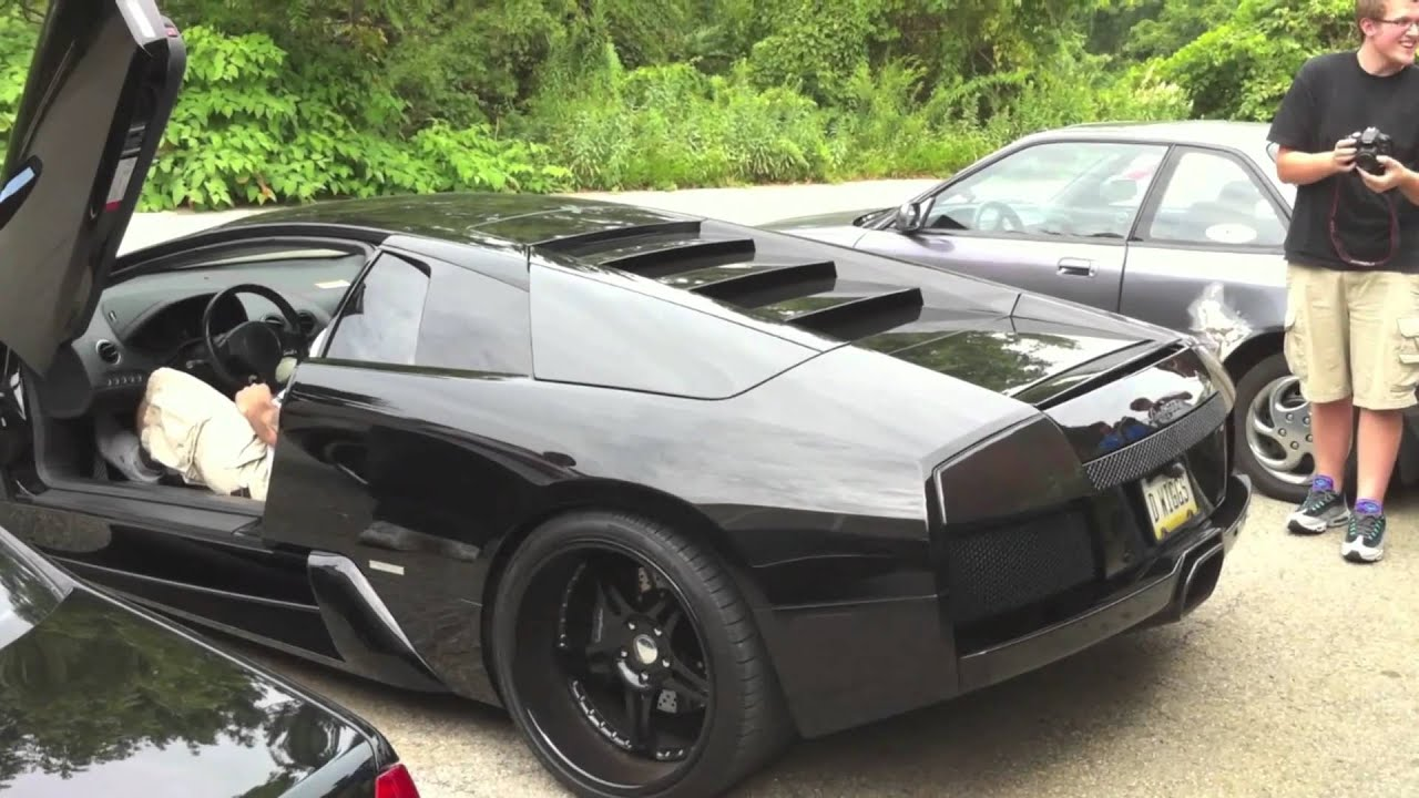 Heavily Modified Murcielago-Darth Vader Awakens LOUD Revs - YouTube