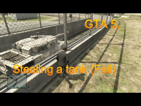GTA 5, Stealing a tank (funny moments)