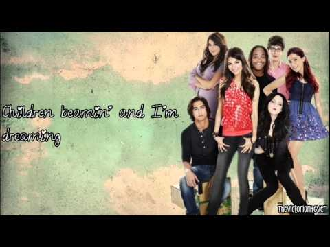 Victorious Cast ft. Victoria Justice - It's Not Christmas Without You (Lyrics)