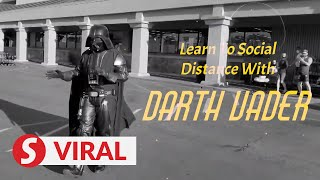 'Darth Vader' shows lighter side of coronavirus protection