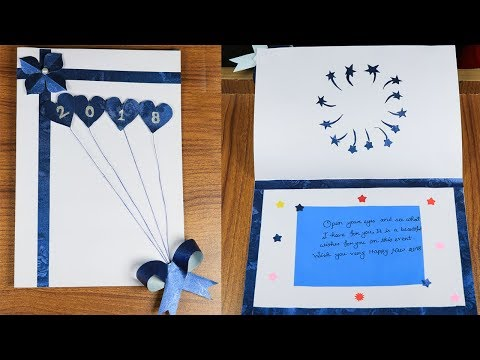 new year 2018 card making how to make new year card easily sb crafts