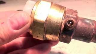 how to stop leaks from air conditioner valves and caps