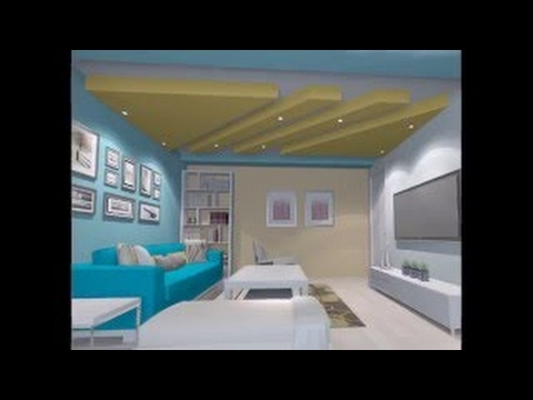 False Ceiling Design Before And After For Small Space Livingroom And