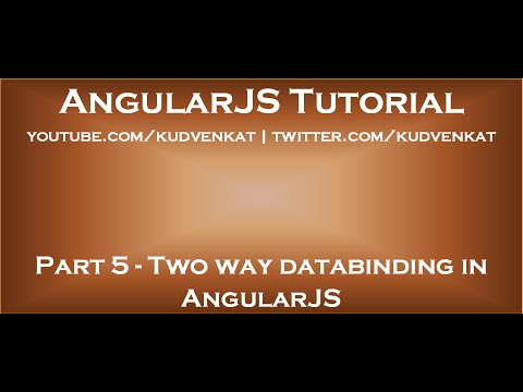 Two Way Databinding In AngularJS
