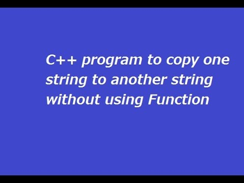 C++ Program to Copy One String into Other Without Function ...