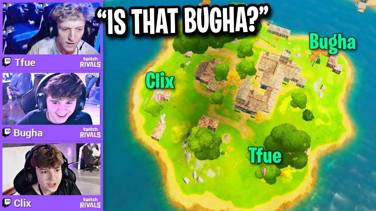 TFUE vs BUGHA vs CLIX on Middle Island Only! (Fortnite) thumbnail