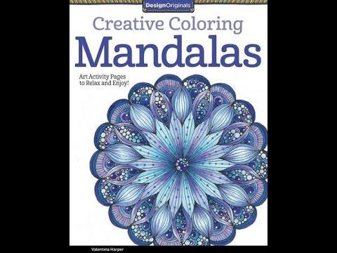 Flip Through Creative Coloring Mandalas Book By Valentina