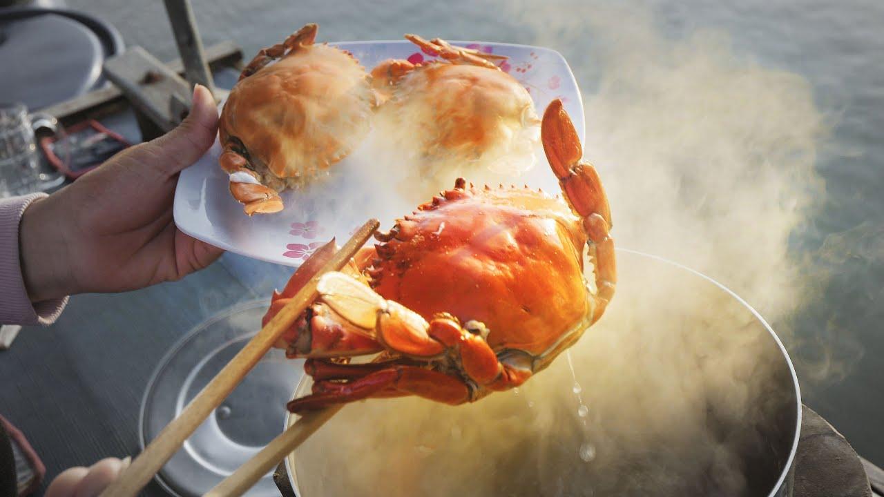 Ăn cua biển trên ghe hàng Miền Tây |Cuộc sống ghe hàng P3