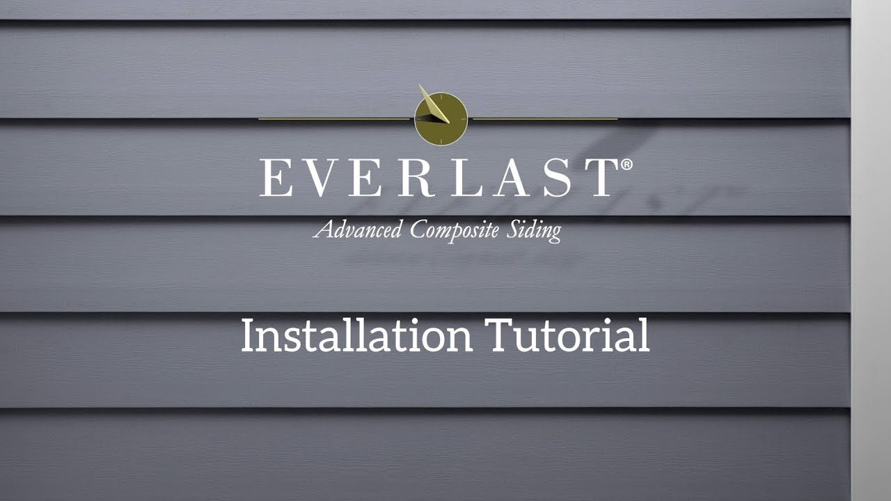 How To Install Everlast 174 Advanced Composite Siding Youtube