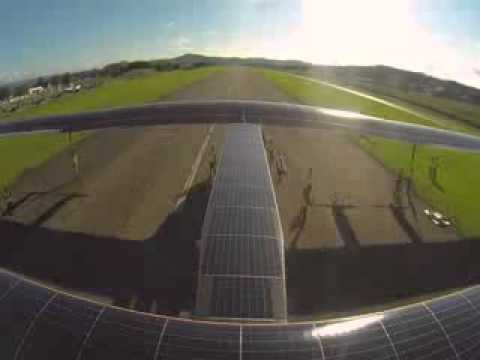 Solar energy power to flying plane success