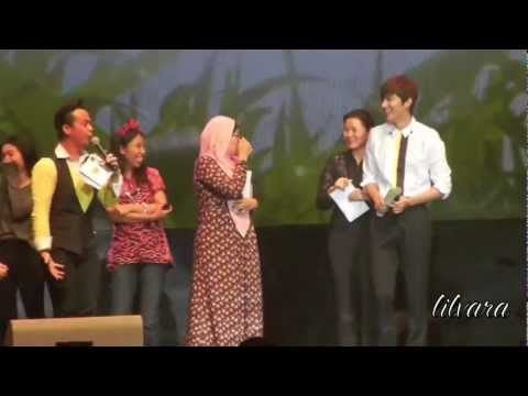 [FANCAM] Lee Minho says Hi to 7 lucky fans at Jkt 1/2 Eng-sub