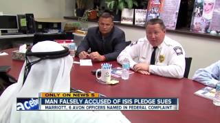 Man falsely accused of pledging allegiance to ISIS sues hotel, Avon police officers in federal court