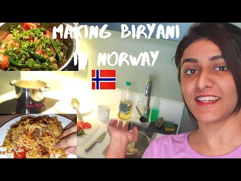 MAKING SINDHI BIRYANI IN NORWAY | SOBIA RIND IN NORWAY