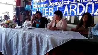 Video: Cardozo presentó a sus candidatos y pidió terminar con la corrupción periqueña