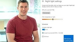 Night light in Windows 10: Warm up your display