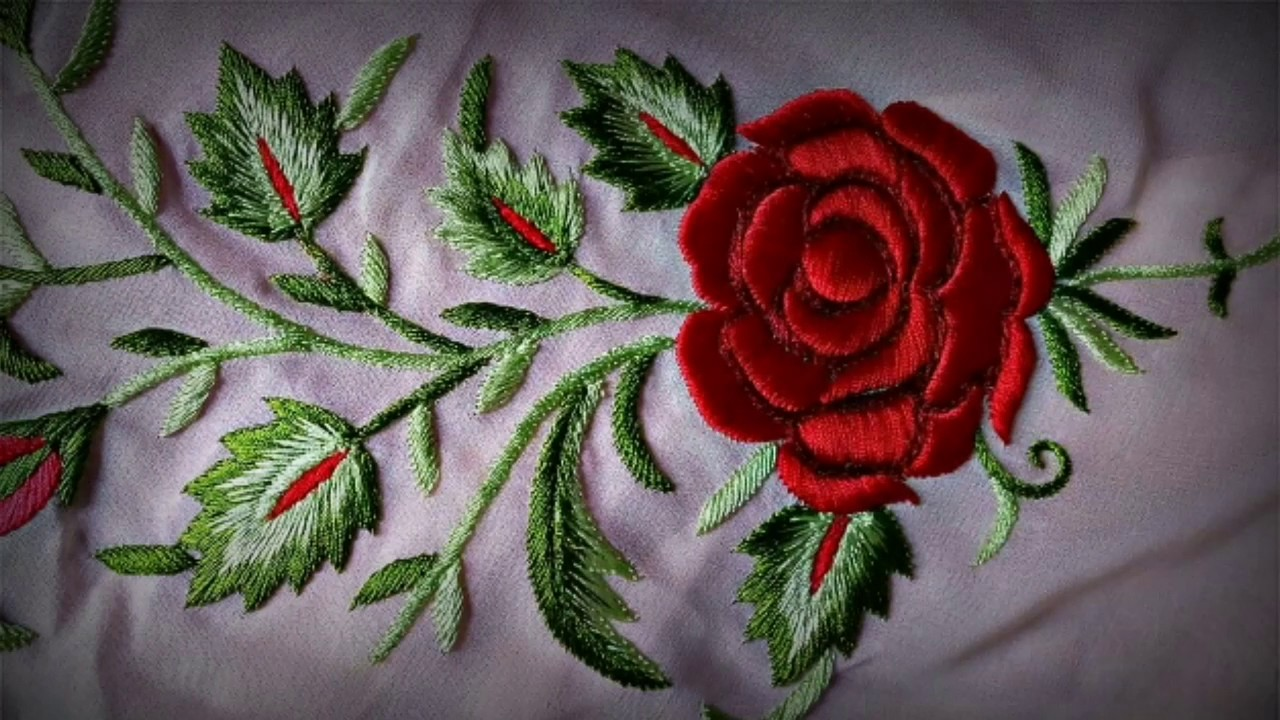 Hand Embroidery Work 10 Beautiful Embroidery Designs Amezing Hand