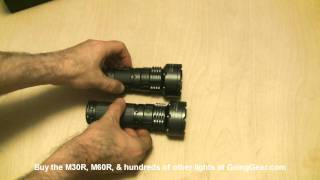 Sunwayman M30R & M60R XM-L T6 Flashlight Review