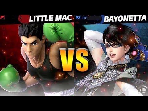 Super Smash Bros Ultimate  Bayonetta VS Little Mac  HD Gameplay
