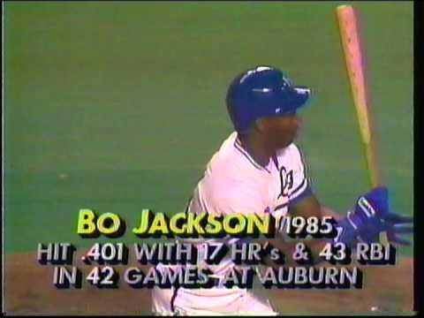 1986 Bo Jackson 1st hit