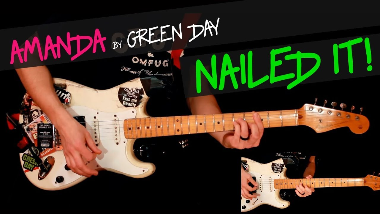 Amanda Green Day Guitar Cover By Gv Chords Youtube