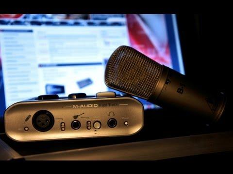 Достаем из коробки - M-AUDIO FAST TRACK USB и  BEHRINGER B-1